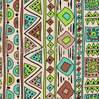 African Stripes Art Pattern Design