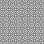 オリエンタル格子 シームレスなベクトルパターン設計