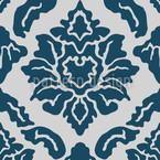 Pop Baroque Blue Vector Design