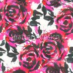 Rosen Stickerei Nahtloses Muster