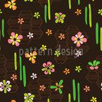 Tokyo Flowers Repeating Pattern