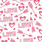 Liebespfeile Und Herzen Nahtloses Vektormuster