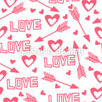 Love Arrows And Hearts Seamless Vector Pattern Design