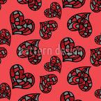 Nicht Nur Normale Herz Nahtloses Muster