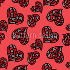 Not Just Ordinary Hearts Seamless Vector Pattern Design