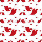 The Love Birds Seamless Vector Pattern Design