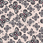Butterflies And Bees Garden Repeat Pattern