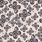 Schmetterlinge Und Bienen Garten Rapportmuster