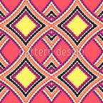 Wavy Rhombus in Squares Seamless Pattern
