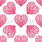 ロマンチックな華麗なハート シームレスなベクトルパターン設計
