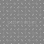 Hypnotische Retro Quadrate Nahtloses Vektormuster
