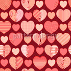 Let Me Love You Seamless Vector Pattern Design