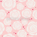 Say It With Roses Seamless Vector Pattern Design
