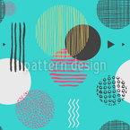 Textured Geometric Shapes Seamless Vector Pattern Design