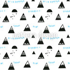 Mountain Tops Seamless Vector Pattern