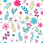 Spring Floral Seamless Vector Pattern Design