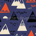 American Mountain Tops Repeating Pattern