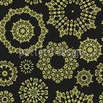 Círculos Ornamentais Design de padrão vetorial sem costura