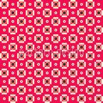 Retro Pixel Blumen Rapportmuster