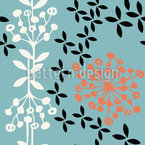 Flower Seeds Vector Ornament
