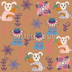 Wild Bunnies Seamless Vector Pattern Design