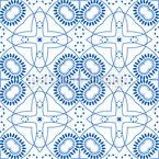 Harmonische Runde Formen Nahtloses Vektor Muster