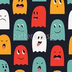 Jogo Fantasma Design de padrão vetorial sem costura