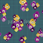 Viola Seamless Vector Pattern Design