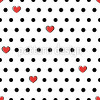 Romantic Polka Dots Vector Ornament