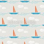 Abstrakte Segelschiffe Nahtloses Muster