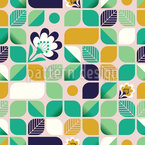 Rounded Floral Shapes Seamless Vector Pattern