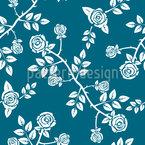 Rose Arbusto Vintage Estampado Vectorial Sin Costura