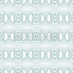 New Zealand Waves Seamless Vector Pattern Design