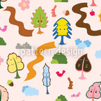 Tree Friends Seamless Vector Pattern Design