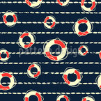 Life Buoy Seamless Vector Pattern Design