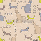 Cats cats cats Seamless Vector Pattern