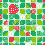 Abgerundete Formen und Erdbeeren Rapport