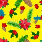 Natural Winter Dekoration Seamless Vector Pattern Design