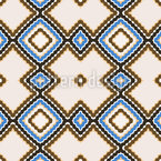 Retro Patchwork Repeating Pattern