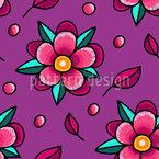 Moderne Blumen-Stickerei Rapportmuster