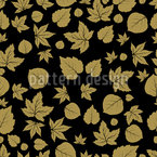 Forest Leaves Vector Ornament