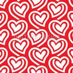 Pochende Herzen Nahtloses Muster