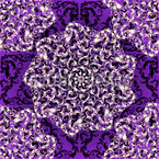 Tanzende Rosetten Nahtloses Vektormuster