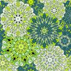Blüten Mandalas Rapportiertes Design