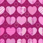 Liebe Ist Kompliziert Nahtloses Vektormuster