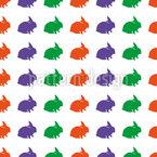 Multi-coloured rabbits Vector Design