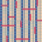 Mid-Century Stripes Seamless Vector Pattern Design