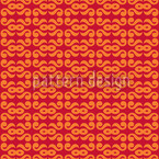 Continous Web Orange Vector Pattern