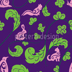 Forest Life Seamless Vector Pattern Design