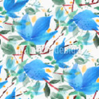 Bloom Embroidery Seamless Pattern